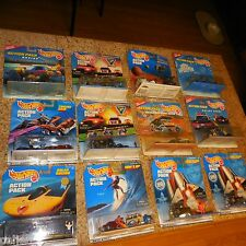 12 LOT ACTION PACK HOT WHEELS SURFS UP JOHN GLENN MARS ROVER KNIGHT RIDER POLICE