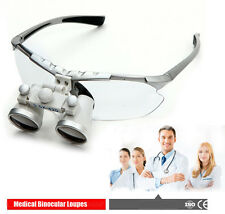 Dental Silver Surgical Medical Binocular Loupes 3.5X 420mm  Magnifying Glasses