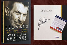 WILLIAM SHATNER SIGNED w/ PSA/DNA - LEONARD (Nimoy, Spock, Kirk, Star Trek)