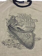 Kent Stage Medium Ringer T-Shirt Wilderness Indian Canoe Guitar Theatre Paddle