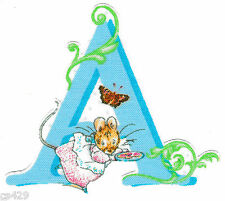 """3"""" BEATRIX POTTER LETTER A ALPHABET ABC'S NAME MONOGRAM  FABRIC APPLIQUE IRON ON"""