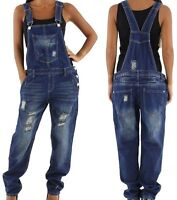 NEU weite Damen Latzhose Relaxed Baggy Overall 34 36 38 40 42 Dungaree Jeans