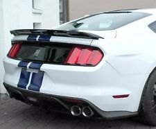 Fits Ford Mustang Coupe 2015-2016 Track Style Rear Flush Spoiler - Unpainted