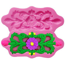 Pink Silicone Flower Fondant Cake Decorating Mold Chocolate Modelling DIY Mould