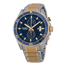 Fossil Wakefield Chronograph Blue Dial Two-tone Mens Watch CH2954