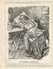 1905 Punch Cartoon Official Sedative Invasion of England is Impossible Balfour