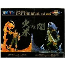 Anime One Piece DXF THE RIVAL vs1 Ace & Teach PVC Figure Set New In Box