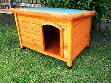 DOG KENNEL Wooden Asphalt Flat Roof Dog Pet House X LARGE XX LARGE BIGGEST CABIN
