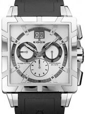 New Edox Men's Classe Royale Chronograph Date Steel watch 10013 3 AIN List $2400