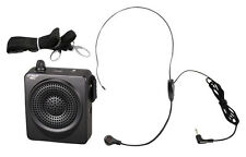 PWMA50B Black Portable Waist-Band Portable PA System Mic +Rechargeable Batteries