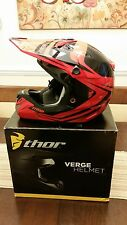 Thor Verge Converge Medium Msrp $330 2016 MX/Offroad Helmet Red/Black