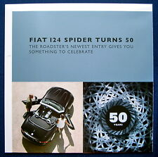 Prospekt brochure 2017 Fiat 124 Spider 50 Years (USA)