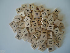 300 Scrabble Wooden Letters Tiles Crafts Weddings Vintage 2cm x 2cm Game Pendant