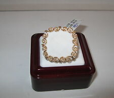 Vicenza Gold Faceted White Agate 14K Gold Ring With Scroll Border Size 7 $430
