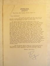 Vintage Hand-Signed Letter WESTBROOK PEGLER King Features RELIGION vs. LAY PRESS