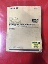 CATERPILLAR AP-1055B, BG-2455C ASPHALT PAVER PARTS MANUAL FOR S/N 6TN1-Up & 8BM1