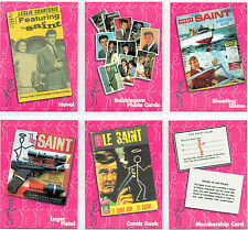 THE SAINT COMPLETE SET OF 6 SAINTLY MERCHANDISE CARDS