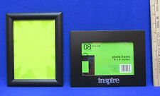 Black Picture Frames 4 x 6 Glassed Photograph One w/ Metal Word Inspire Lot Of 2