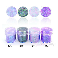 4boxes/set 10ml Purple Pink Glitter Powder Sheets Tips Nail Art Decoration