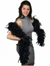 NWT Thick 120gm 120g Chandelle Feather Boa Black 6 ft Flapper Burlesque Costume