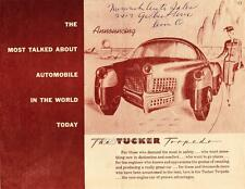 Old Print. Tucker Torpedo Brochure Car Ad