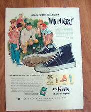 1951 U S Keds Shoes Ad Coach Frank Leahy Says Win in Keds