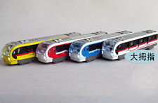 High-speed subway train metro train with sound and light alloy three doors open