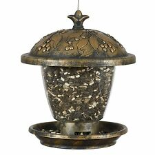 Perky-Pet 305 Holly Berry Gilded Chalet Wild Bird Feeder, New, Free Shipping