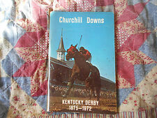 1972 KENTUCKY DERBY MEDIA GUIDE  AD