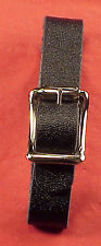 Vintage 1/2 Inch Black Only Pocket Watch Fob Strap Genuine Leather ONE PIECE