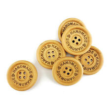 Buddly Crafts 35mm Four Hole Wooden Buttons - 6pcs Handmade B31