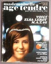 ►AGE TENDRE 9/1965 - LEROY - MICK JAGGER - SHEILA - VARTAN - FRANCE GALL - HARDY