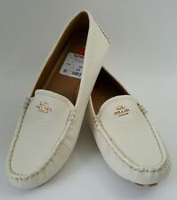 "NEW Women's Coach ""AMBER""  white off  Loafers, Shoes Size 6"