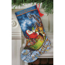 Dimensions Gold Collection Cross Stitch Kit - Santa's Flight Stocking