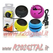 CASSE TASCABILI RICARICABILE ALTOPARLANTE PORTATILE DOCK IPOD IPHONE MP4 MP3 MP5