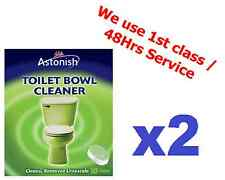 2x Astonish Toilet Bowl Cleaner Ideal For Over Night Cleaning Pk 10 Tablets