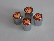 VAUXHALL SILVER ALLOY WHEEL TYRE VALVE DUST CAPS