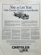 1925 Chrysler Six Motor Car Corporation  Only Produces Such Results Original Ad