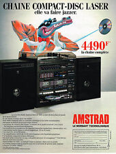 PUBLICITE ADVERTISING 035  1986  AMSTRAD   chaine compact-disc laser