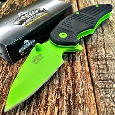 MASTER BALLISTIC TACTICAL Spring Assisted Open Pocket Knife NEW! GREEN BLADE