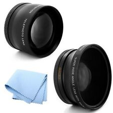 58mm 2x Telephoto and .45x Wide Angle Lens for Fujifilm FinePix HS50EXR Camera