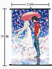 Hot Japan Anime Anohana Honma Meiko Yadomi Jinta Poster Home Decor Wall Scroll