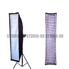 "TWO (2) PRO 14x63"" 35x160CM STRIP SOFTBOX + GRIDS +SPEEDRINGS For EINSTEIN E640"