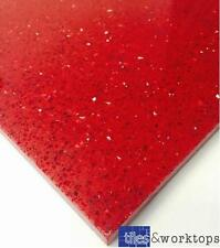 SAMPLE of Red Quartz Speckle Mirror Fleck Stardust Starlight Tiles Wall Floor