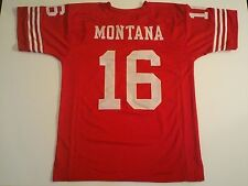 San Francisco 49ers Joe Montana UNSIGNED CUSTOM Red Jersey - XL
