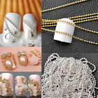 Hot Fashion Chic 3D Nail Art 3-5M Beads Line Chain Cute False Tips DIY Decora