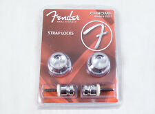 GENUINE FENDER GUITAR STRAP LOCK CHROME HOLDS UP TO 100 LBS