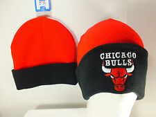 Chicago Bulls NBA cuff Knit Beanie Two Tone New By Adidas