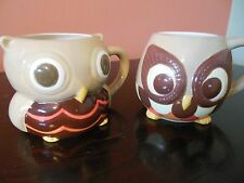 Set of 2 Owl Mugs_Mesa_Bird_4x4_Coffee_Tea_