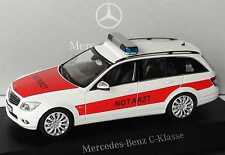 1:43 Mercedes-Benz C-class T model S204 NEF Emergency doctor Dealer Schuco